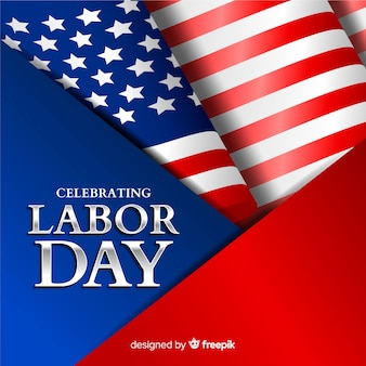 Usa labor day background in realistic style