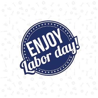楽しむ労働日のポスターカード