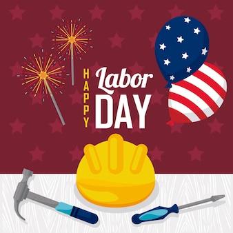 Usa labor day celebrating