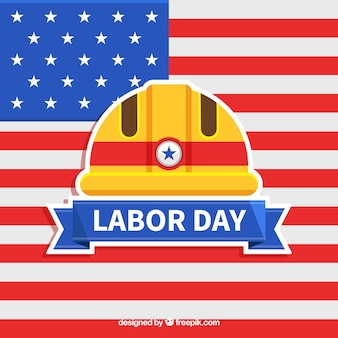 Usa labor day concept with flat design