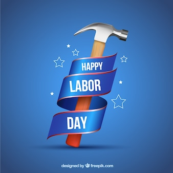 Usa labor day concept with realistic style