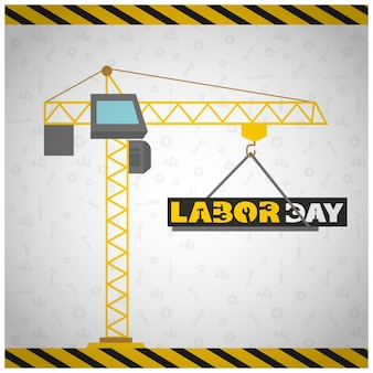 Usa labor day design with construction conept