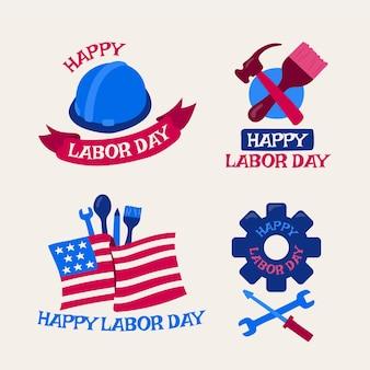 미국 노동절 라벨 컬렉션