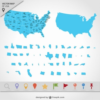 USA map states