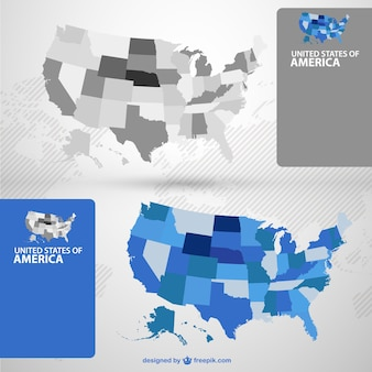 USA maps with the states