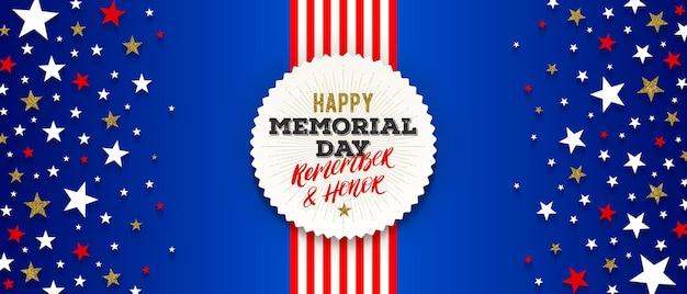 Usa memorial day greeting card design