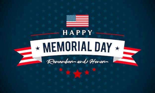 Usa memorial day greeting card  illustration