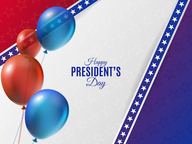 Usa president's day background with balloons