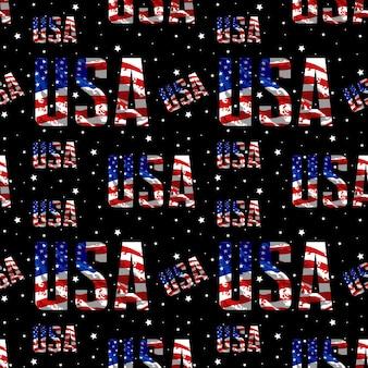 미국 원활한 패턴 벡터 디자인
