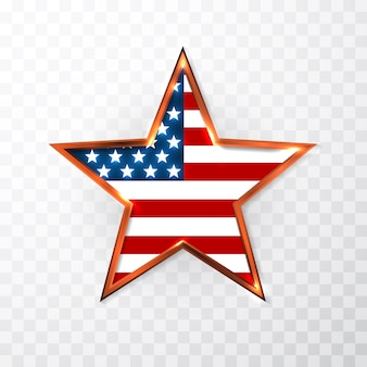 Usa star in national colors of america. independence day.