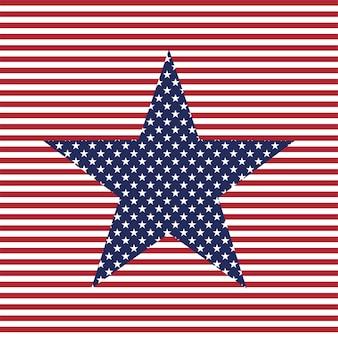アメリカの星のベクトルの背景アメリカの愛国心が強い星とストライプのパターン7月4日