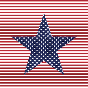 Usa star vector background american patriotic star and stripes pattern the fourth of july