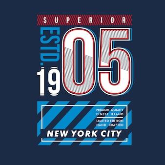 Usa superior city cool design typography vector