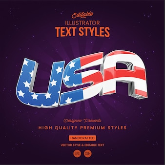 Usa text style