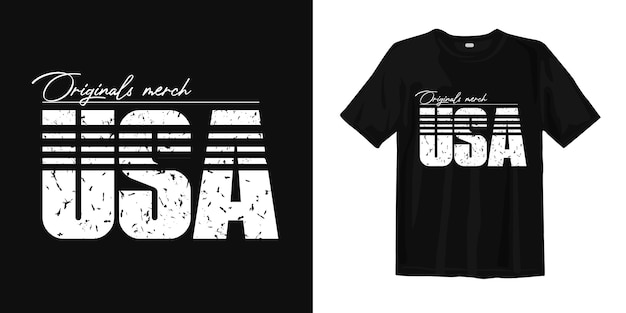 Usa typography for print t shirt