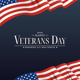 미국 재향 군인의 날 포스터. 벡터 일러스트 레이 션. eps10