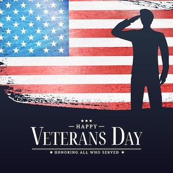 Usa veterans day poster. vector illustration. eps10