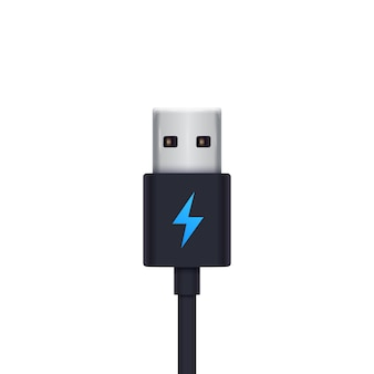 Usb charging plug  illustration