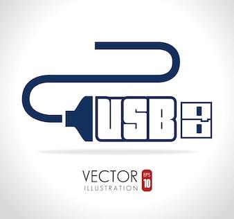 USB design, vector illustration.