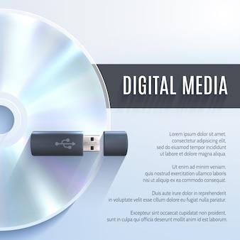 Usb flash drive con cd