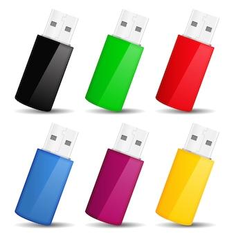 Usb flash drives,  illustration