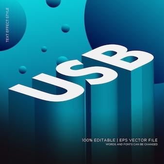 Usb isometric 3d 텍스트 효과