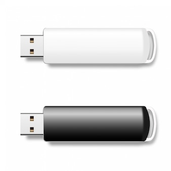Usb pen drives, black and white flash disks