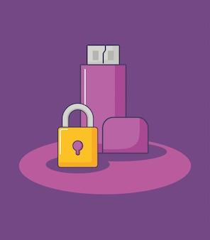 Технология данных usb безопасности защиты инноваций