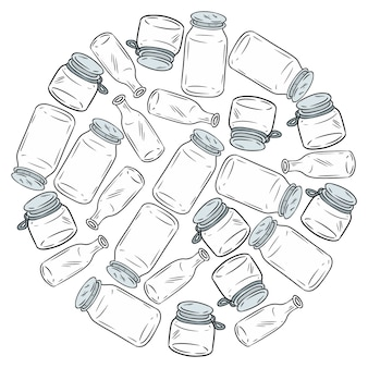 Use less plastic glass jars ball. motivational image. ecological and zero-waste. go green