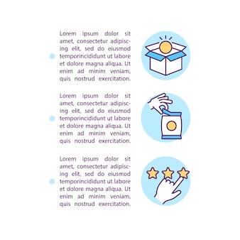 텍스트와 함께 상품 및 서비스 개념 라인 아이콘 사용