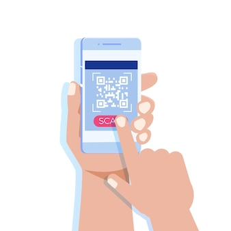 Use smartphone for qr code scanning.