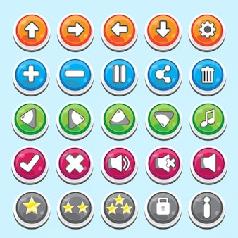 Useful buttons in cartoon style