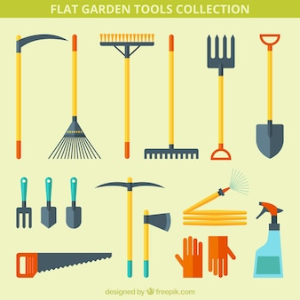 Useful flat tools for gardening