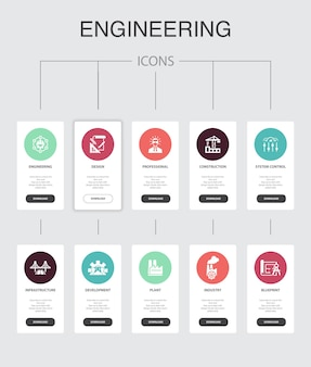 User behavior  infographic 10 steps circle design. analytics, user data, performance, usability simple icons
