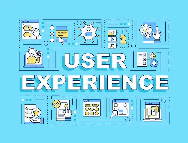 사용자 경험 단어 개념 배너