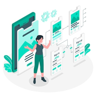 User flow concept illustration