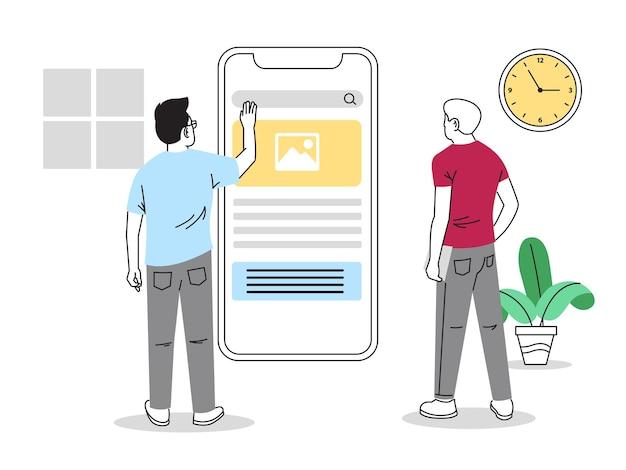 사용자 인터페이스 디자인 일러스트레이션