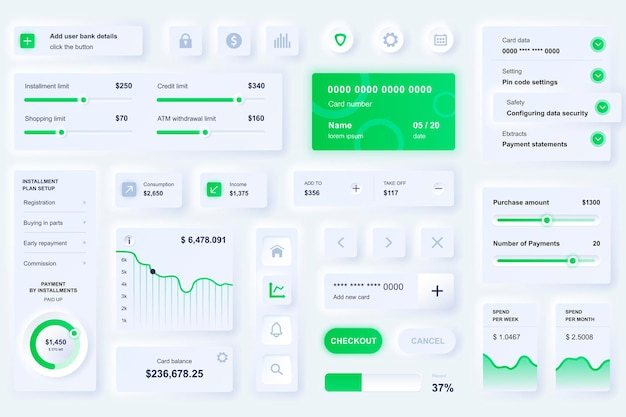 User interface elements for banking mobile app