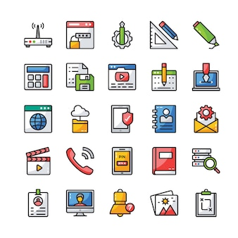 User interface flat icons pack