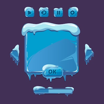 冬のゲームのユーザーインターフェイス