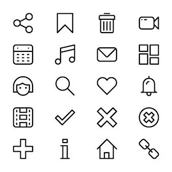 Пользовательский интерфейс glyph icons pack