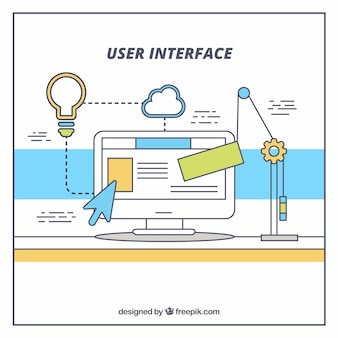 User interface with web elements