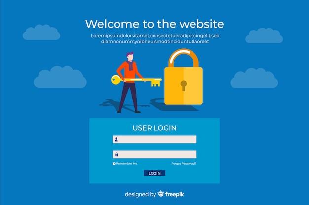 User login landing page