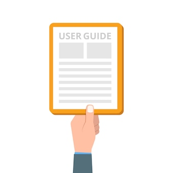 User manual, guide, instruction, guidebook, handbook.  illustration.