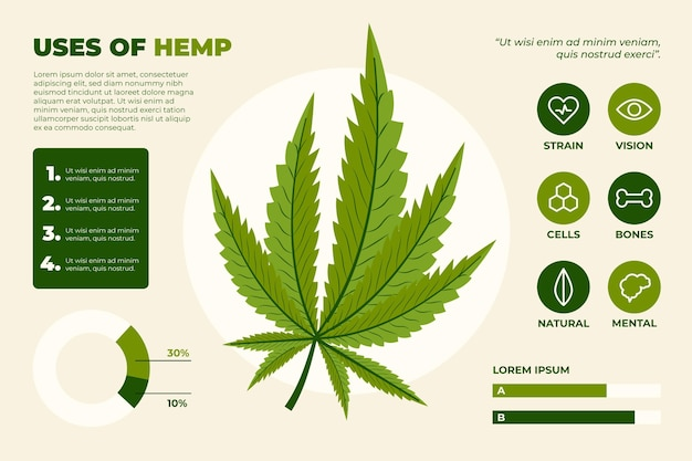 Uses of hemp infographic