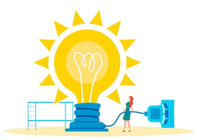 Using imagination metaphor vector illustration