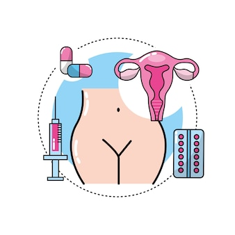 Uterine cancer with medicine treatment to care the body