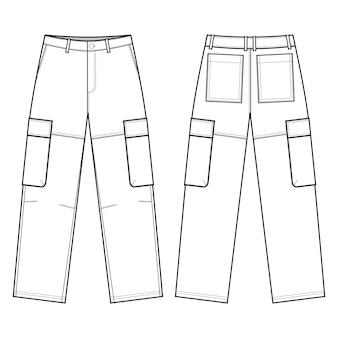 Utility cargo pants fashion flats