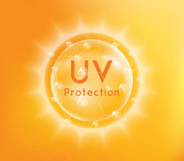 Uv protection or ultraviolet sunblock.