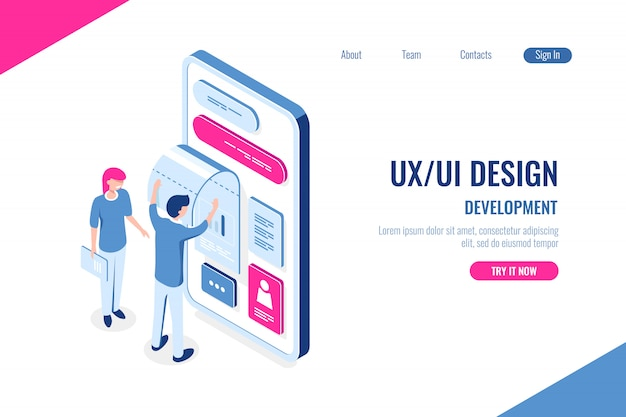 Ux/ ui design, development